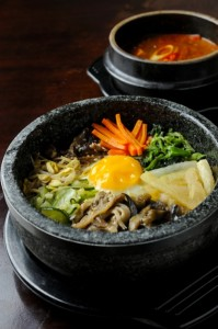 A traditional Korean meal