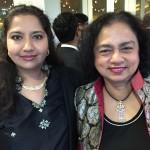 Arogya World Board Member Deepa Pralahad with Founder and CEO Nalini Saligram at Indiaspora's evening gala